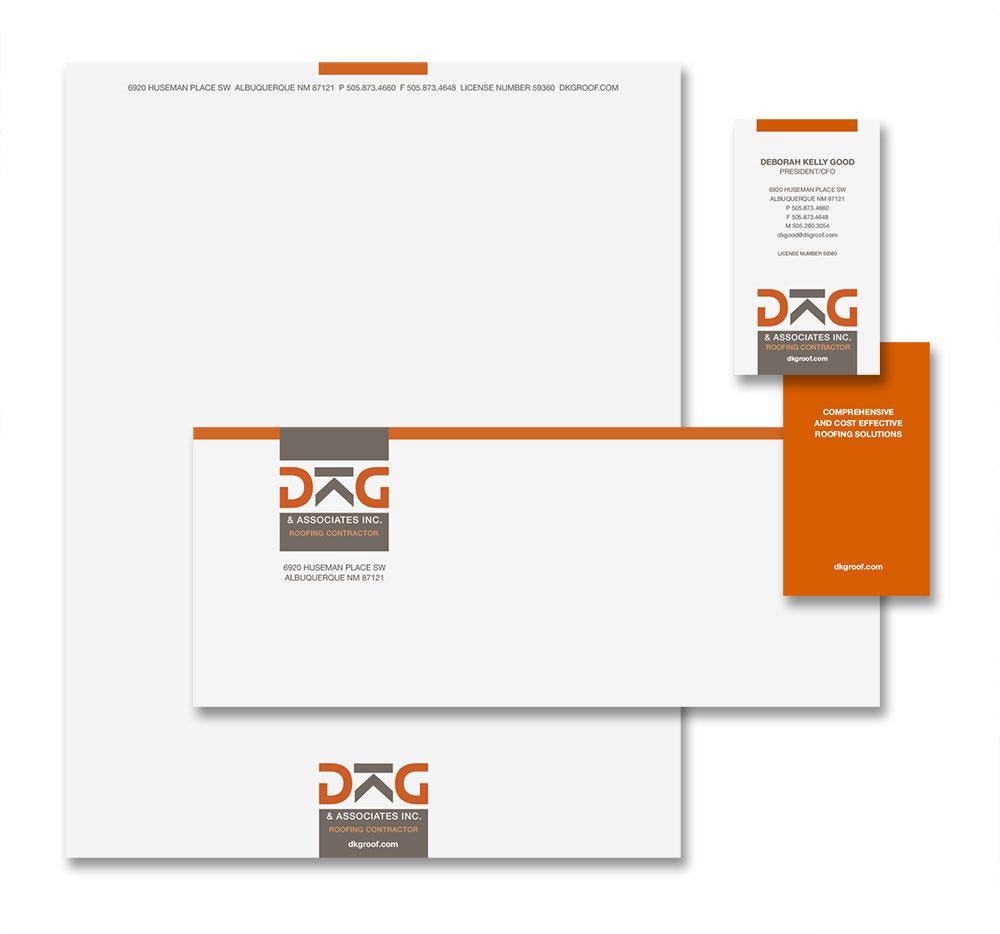 Dkg Roofing Contractor Brand Portfolio Studio Hill Design